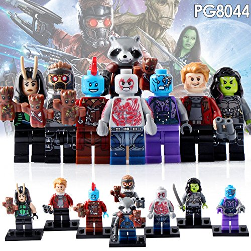 TONGROU 8PCS/SET-Minifigures-Star-Lord-Peter-Guardians-of-the-Building-Blocks-Toy