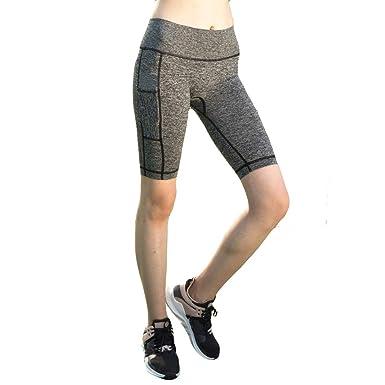 HCFKJ Pantalones Yoga Mujeres Pantalones Deportivos Mujer ...