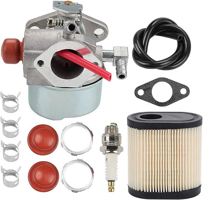 Hippotech Carburador 640303 con Filtro de Aire 36905 para Tecumseh LEV100 LEV105 LEV120 LV195EA LV195XA Toro 20016 20017 20018 6.75HP Recicladora Cortacésped Cortacésped