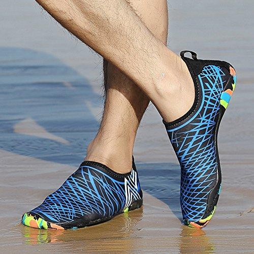 BUIMIN Chancletas Zapatillas Adolescente-Unisex Atractiva Transpirable Para Playa Casual Moda Verano Color Azul/Verde/Rosa Oscuro/Blanco Talla 36/37/38/39/40/41/42/43/44 (40, Azul)