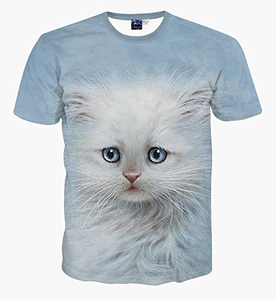 La montaña hombre 10 camiseta de manga corta, diseño de gatos: Amazon.es: Ropa y accesorios