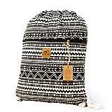 Canvas Drawstring Backpack - Handmade Sackpack, Gym Bag by Lemur Bags (Aztec Tribal)