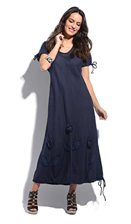 Couleur Lin Dress Juliette Navy Blue Women Spring/Summer Collection ...