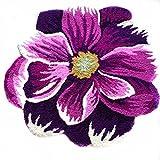 USTIDE Purple and White Flower Area Rug Antiskid Carpet/Area Rug Designer Rugs,25.6″x25.6″ Review