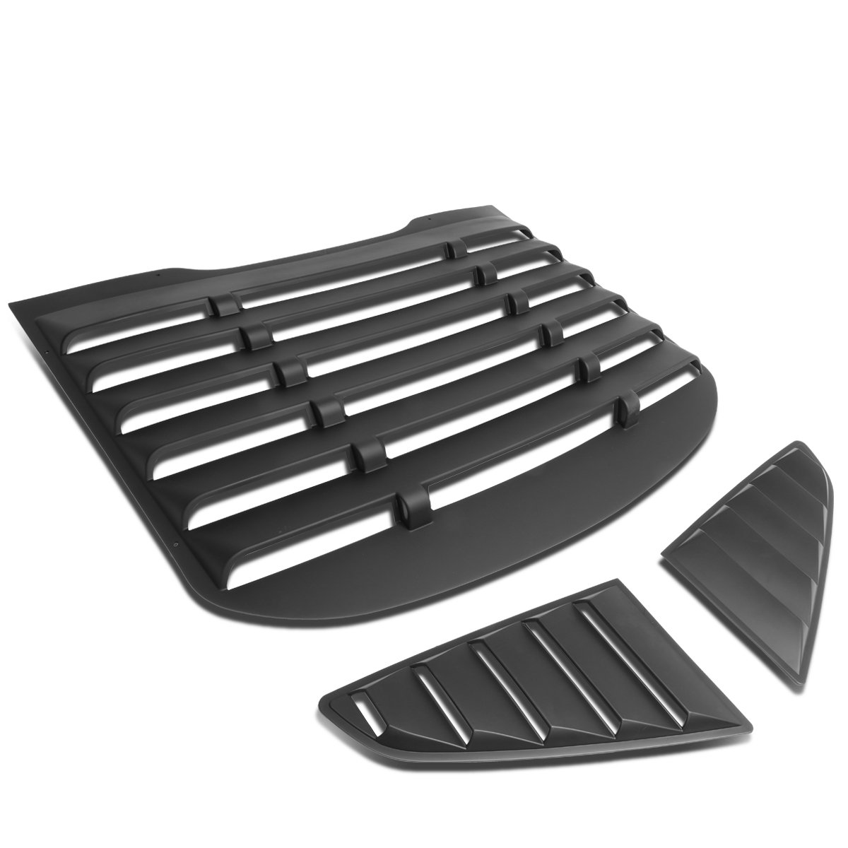 For Ford Mustang Coupe 3Pcs Vintage Style Rear + L/R Quarter Side Window Louver Sun Shade Cover Auto Dynasty