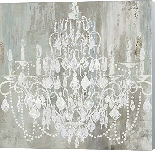 Chandelier by Aimee Wilson Canvas Art Wall Picture, Museum Wrapped with Winter Gray Sides, 12 x 12 inches