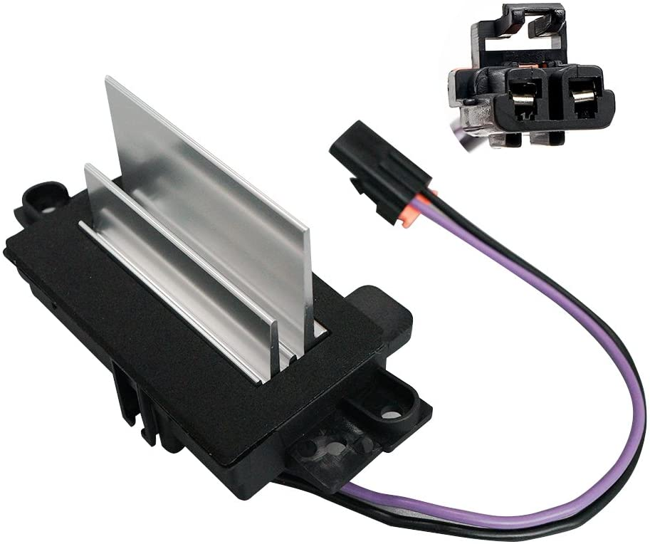 AC blower motor resistor Module 4P1516 Upgraded Design Heating and Air Conditioning Blower Resistor For Chevy Silverado,Trailblazer,Cadillac Escalade,GMC Envoy,Sierra,Buick Rainier