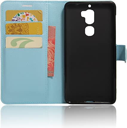 Nadakin LeEco Coolpad cool1 Funda, PU Cuero Flip Leather Wallet Case Cover Carcasa Funda con Ranura de Tarjeta Cierre Magnético y función de Soporte para LeEco Coolpad cool1 (Azul): Amazon.es: Electrónica