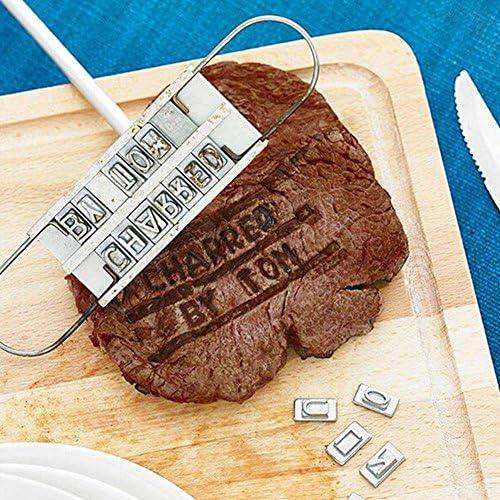 N Personnalité Steak Viande Barbecue BBQ Branding Iron 55 Lettres Tool Sets