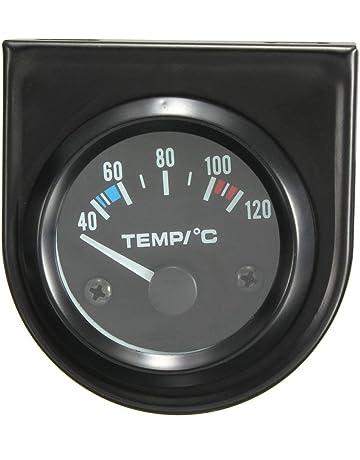Homyl Term/ómetro Del Voltio De La Temperatura Del Agua De La Presi/ón De Aceite De La Cara Negra 52mm