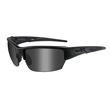 Wiley X Saint Sunglasses, Matte Black Frames with Smoke Grey Lenses