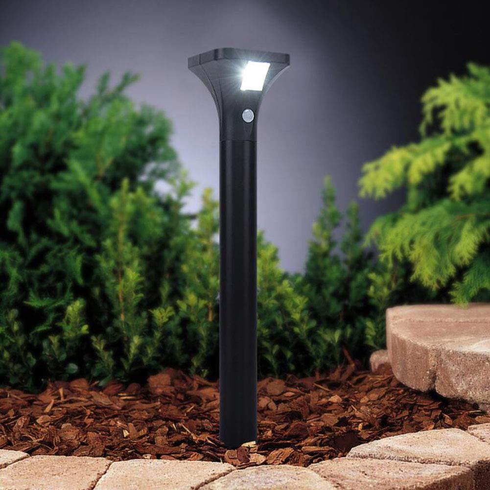 Suguoguo Solar-Rasenleuchten, LED Edelstahl Human Body Induction Garden Spike Light Decorative Lights für Home Yard Rasenmäher Pfad 1Pcs,PositiveWeißlight