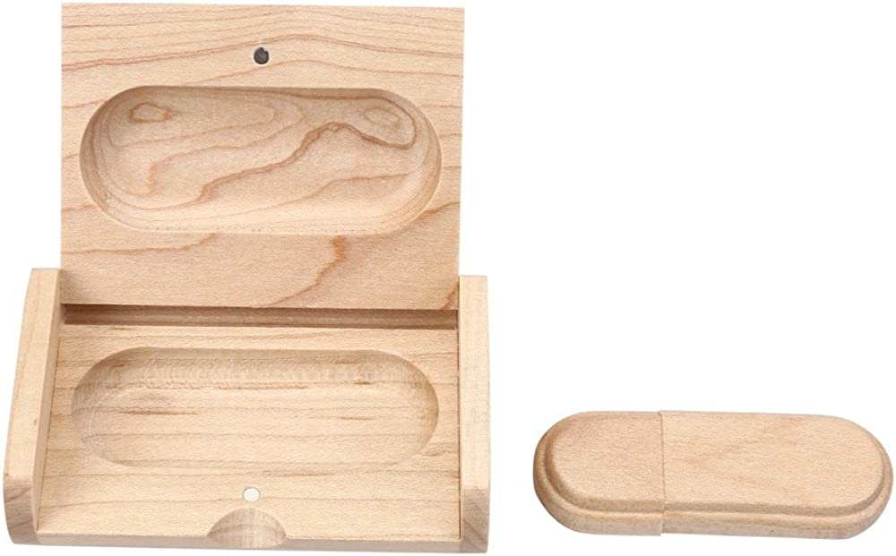 Ackful Sale Wooden USB 2.0 Flash Drive Pen Drives Wood U Disk+Wood Box