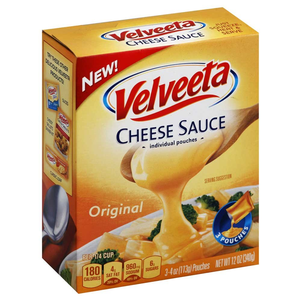 Velveeta Original Processed Cheese Sauce Pouch, 12 Ounce - 8 per case. by Velveeta