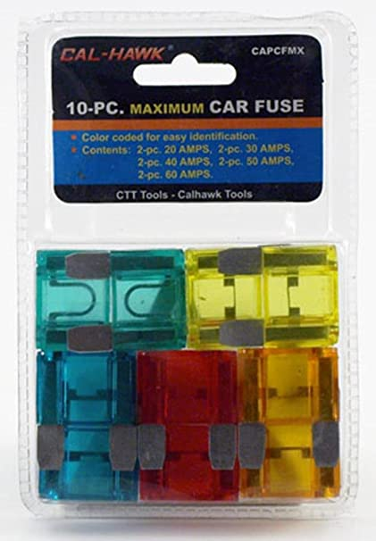 amazon com 10 new maxi car truck boat rv fuse 20,30,40,50,60 amp  amazon com 10 new maxi car truck boat rv fuse 20,30,40,50,60 amp automotive