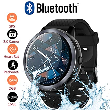 GKCD GPS Smart Watch: Waterproof 4G Android 7.1.1 with 2 Million Pixel Camera