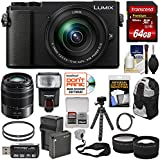Panasonic Lumix DC-GX9 4K Wi-Fi Digital Camera & 12-60mm (Black) + 45-150mm Lens + 64GB Card + Battery + Backpack + Tripod + Flash + Tele & Wide Lens Kit
