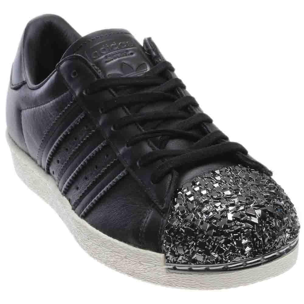 adidas Originals Women's Superstar Metal Toe W Skate Shoe B06W55467V 8 B(M) US|Black