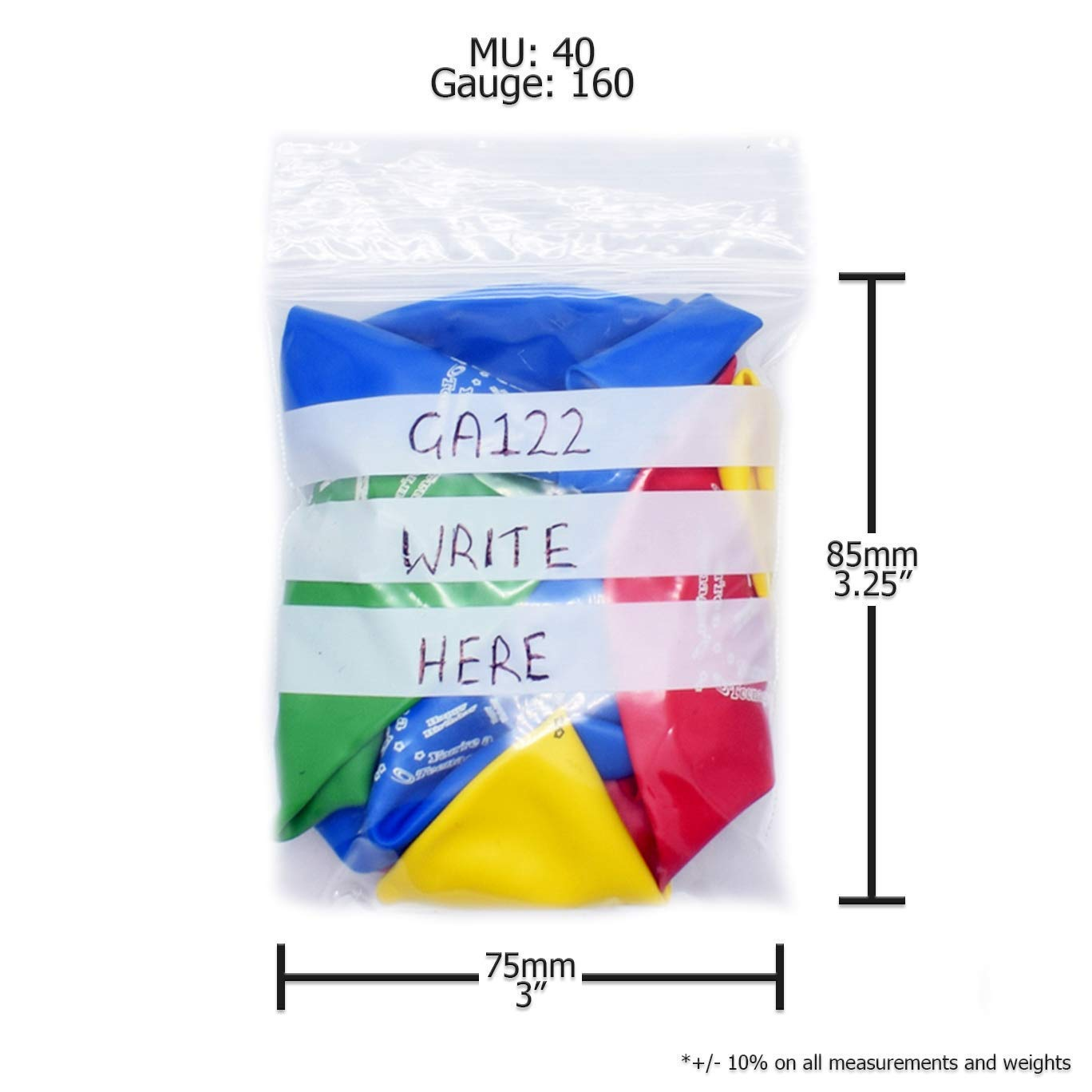 1.5 x 2.25-40mm x 55mm Grip Seal Plastic Poly Press /& Seal Bags With Write on Panel 100 x Simply Direct GA020 Assorted Sizes /& Quantities