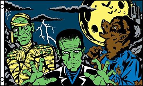 Monster Fright Night - Halloween 3x5' Polyester Flag