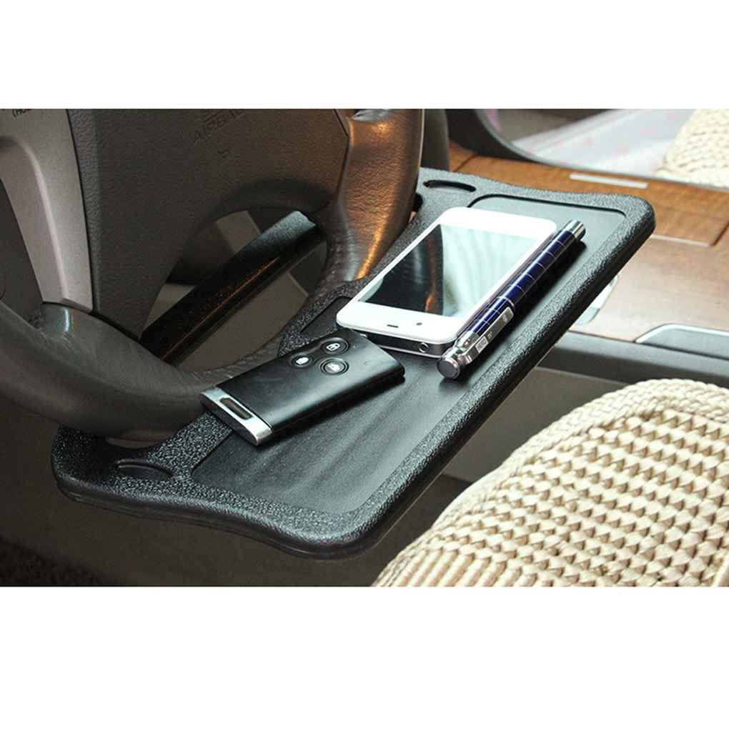 OmkuwlQ Universal Car Laptop Stand Notebook Desk Dining Table Clip Auto Steering Wheel Tray Drink Holder Desk Table