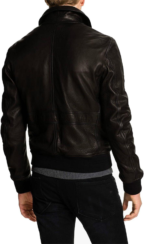 Kingdom Leather New Mens Leather Jacket Slim Fit Biker Motorcycle Genuine Leather Coat X456