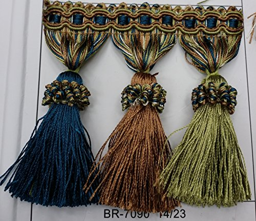 Upholstery Fabric Trim (Beaded Tassel Fringe Trim 3.5