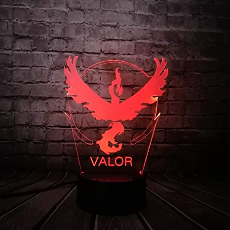 KangYD Lámpara visual 3D Pokemon Go Game Eagle/LED Night Light ...