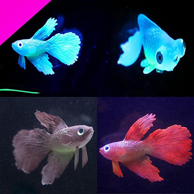 liyudl Artificial pescado suave silicona brillante Betta peces de acuario tanque adorno decoración: Amazon.es: Hogar