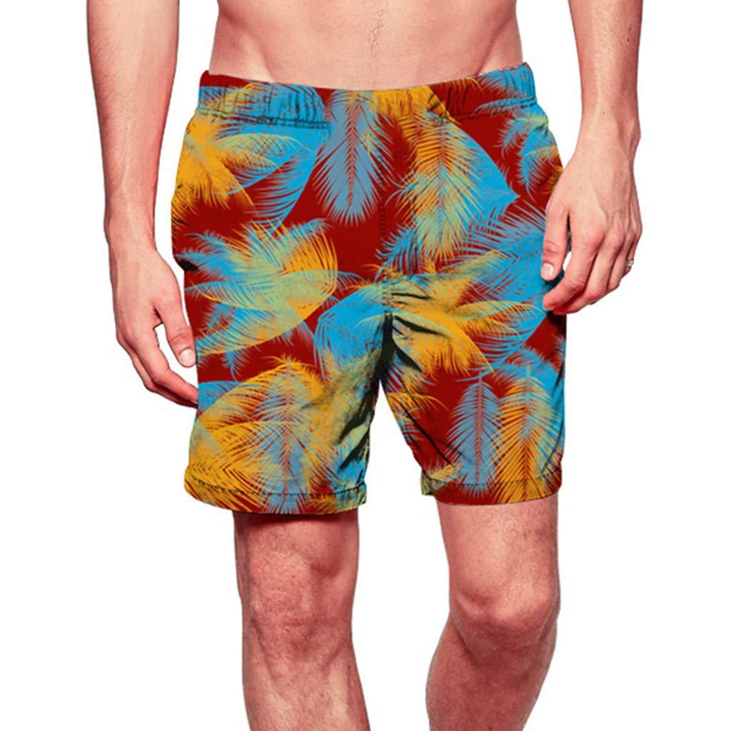 Longra Mens Swim Trunks Beach Quick Dry Shorts Surfing Running Swimming Watershort