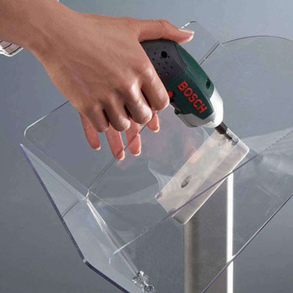 orizzontale Espositore per brochure formato DIN A4 con porta opuscoli decorativo in acrilico trasparente