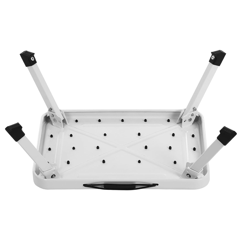 Robusta con Capacidad de 150 kg SONGMICS Taburete klapptritt Escalera Plegable certificado por T/ÜV S/ÜD de Acuerdo con el Est/ándar EN14183 BlancoS GSL01WT