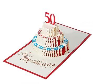 Karte zum 50 Geburtstag Glückwunschkarte Geschenk zum Geburtstag