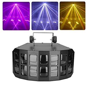 Luz Disco DJ luces de fiesta 4 en 1 luces PAR LED 12W DMX Sound ...