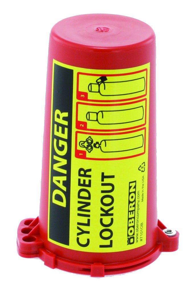 Oberon LOTO-GCYLDR Gas Cylinder Lockout, Red by Oberon Company