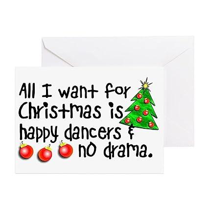 Christmas Bday Cards.Amazon Com Cafepress Dance Teacher Christmas Greeting Card Note
