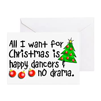 Amazon cafepress dance teacher christmas card greeting cafepress dance teacher christmas card greeting card note card birthday card m4hsunfo