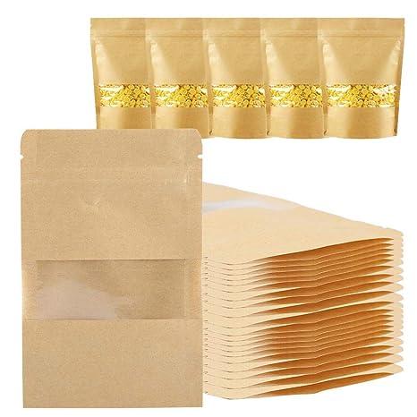 Bolsas de papel para alimentos, bolsas de papel Kraft de 20 ...