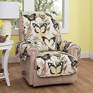 Butterfly Print Furniture Protector Recliner/Wing Chair