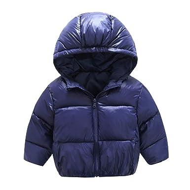 563ac350e Amazon.com  Baby Boys Girls Light Hooded Down Jacket Winter Warm ...