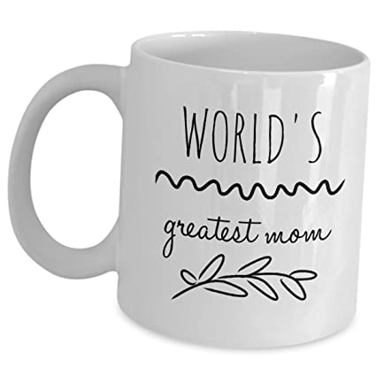 b211ccb0855 Image Unavailable. Image not available for. Color: Funny Mommy Coffee Mugs  - Worlds Greatest ...