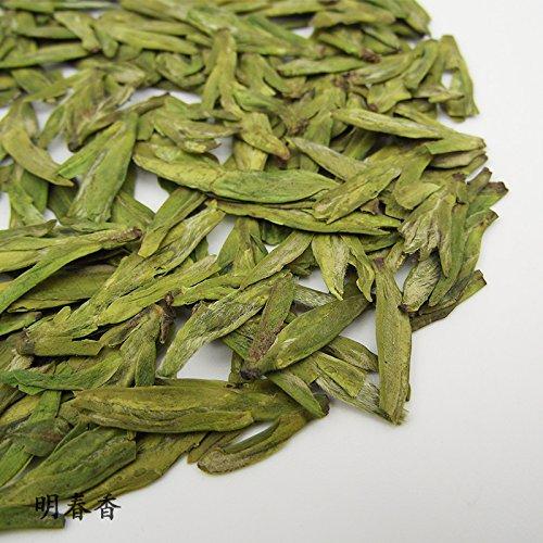 Aseus 2017 former Longjing tea Longjing green tea Green Tea Chuncha roasted Green Tea Ming Chunxiang tea 250g bulk