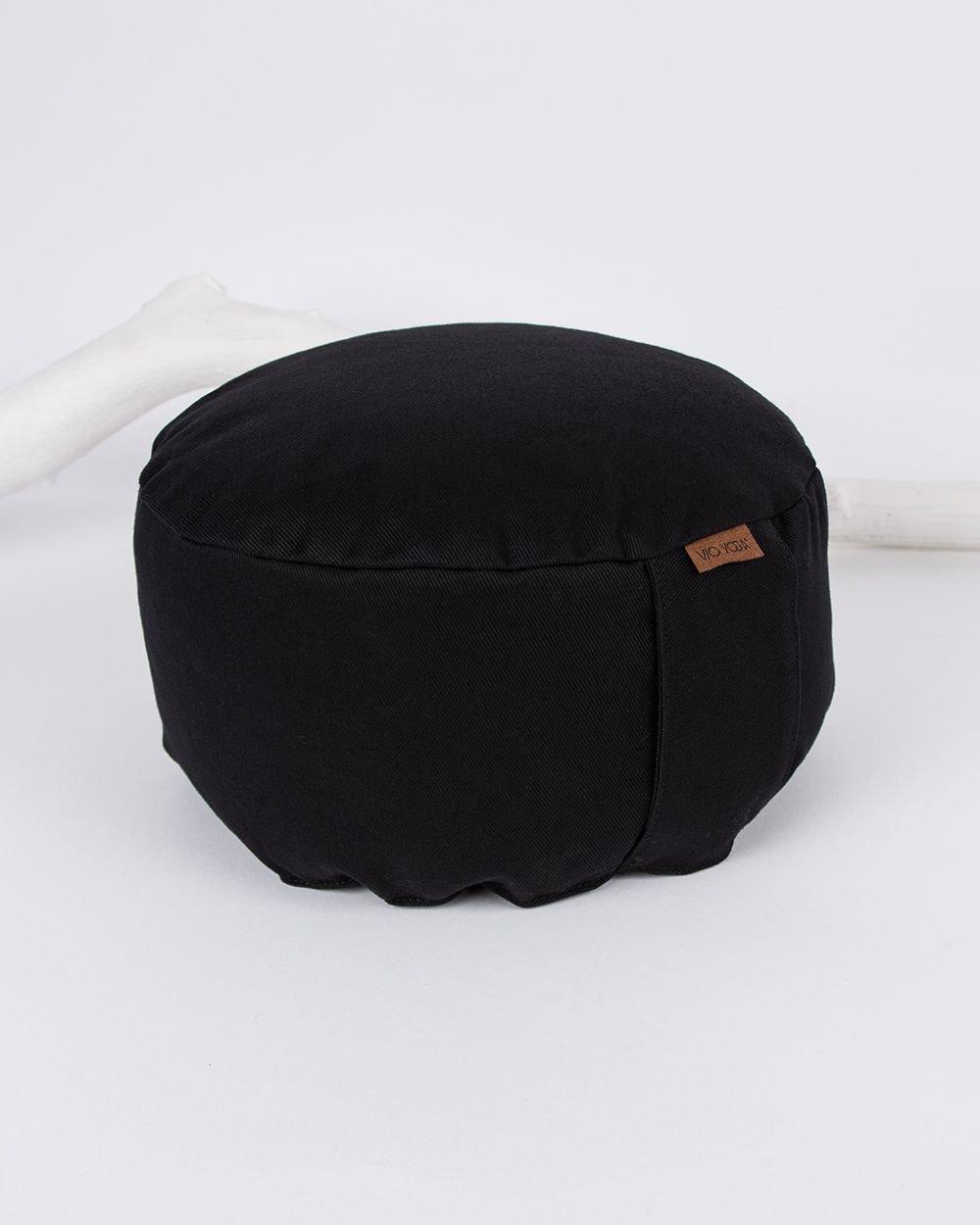 """VIO YOGA® • Meditationskissen """"Black' • hochwertiger Stoff für Deinen individuellen Style • Qualitätsarbeit aus Deutschland"""