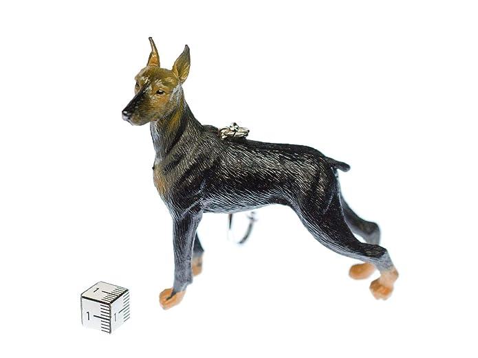 Miniblings Doberman XL llaveros Clave del Perro Anillo 8x9 ...