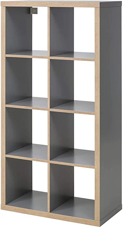 IKEA KALLAX - Librería, Estante, Gris, Efecto Madera, 77 x ...