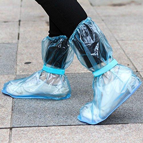 Zapato Aire Bota Bajo Viajar Azul Libre Resbalón Aesy Impermeable Zapato Lluvia Grueso Bajo Corte Cubiertas Alto Al Corte Lluvia Anti Cordón corte de Cubrir Cubiertas wXx8Fx4q
