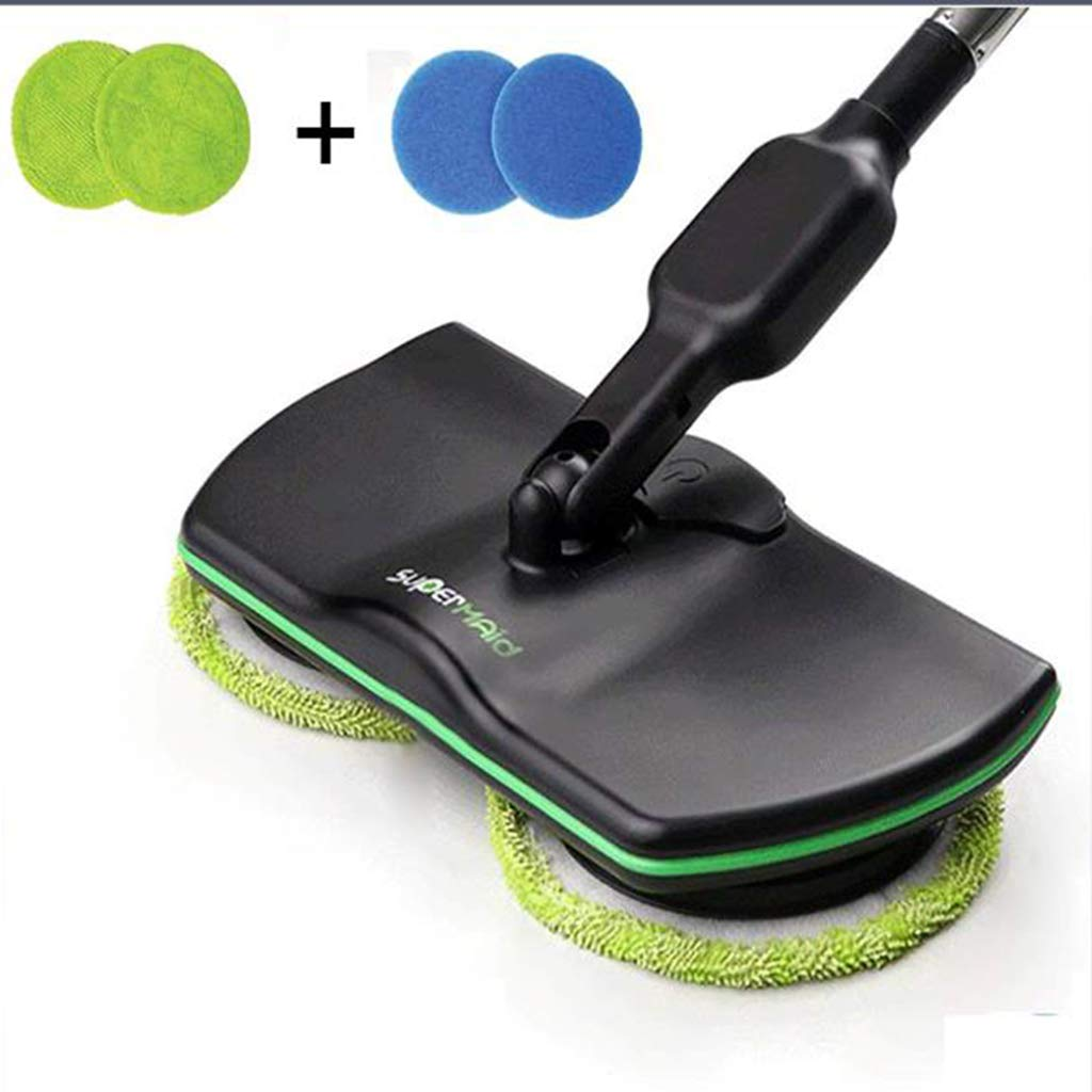 ADAHX Electric Spinning Mop,Cordless 360 Degree Mopping Machine Rechargeable, Wireless Electric Handheld Vacuum Floor and Carpet Tile Sweeper,Black