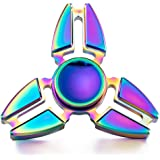 TorDen High Speed Crab Feet Shaped Hand Stress Spinner Fingertip Fidget Toy for Children and Adult (1-Rainbow)