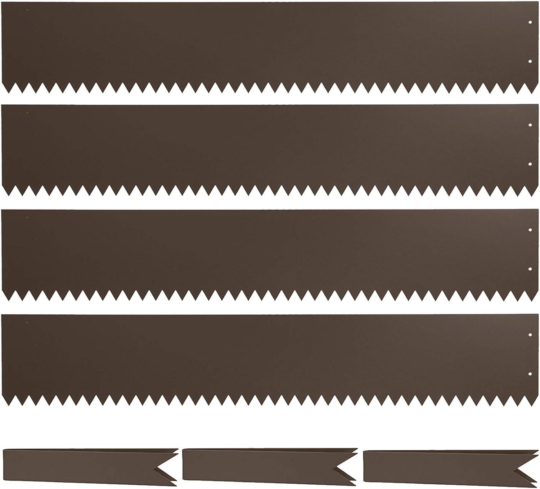Steel Landscape Edging 40 Inch Strips, Steel Edging 8 Inch Depth for Landscaping Lawn Edging,4 Pack
