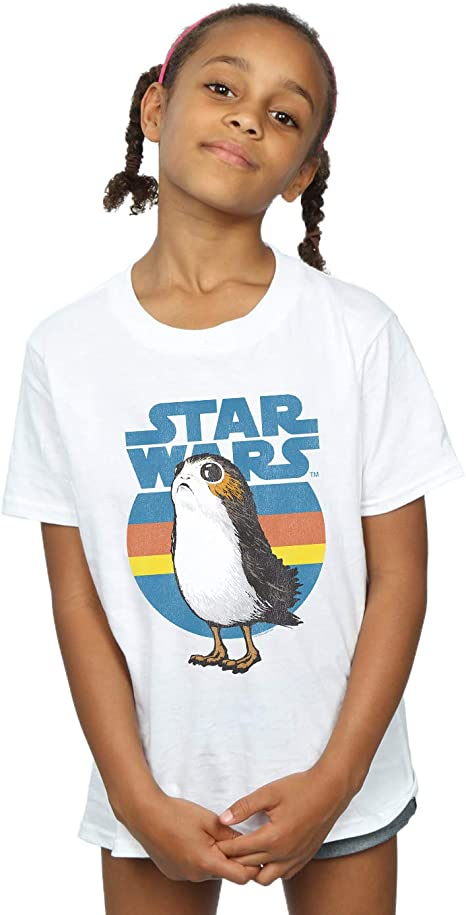 Star Wars The Last Jedi Porg Cartoon Girls Graphic T Shirt